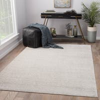 Juniper Home Quenby Medallion Silver/Cream Viscose/Fabric Indoor Rectangular Area Rug (10' x 14')