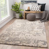 Morias Handmade Abstract Gray Area Rug (9' x 12')