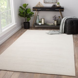 Juniper Home Phase White Wool/Viscose Handmade Area Rug (9' x 12')