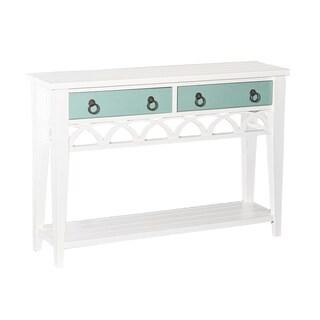 Elliana White Wood Console Table
