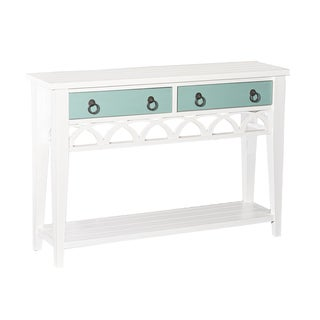 Elliana White Wood Console Table