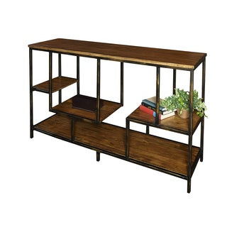 Powell Cortez Brown Wood Console Table
