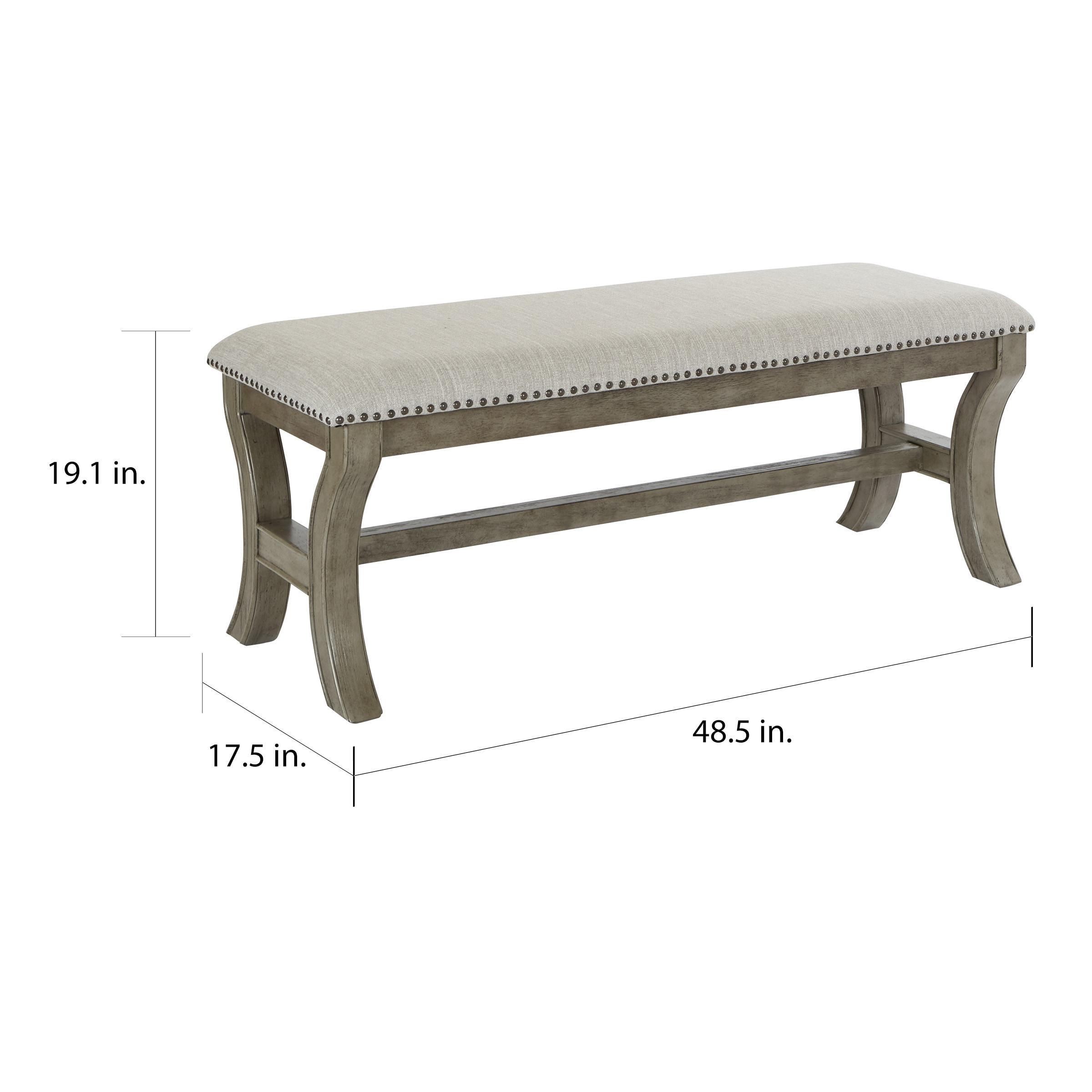 Phenomenal The Gray Barn Mcniven Antique Grey Mid Century Bench Machost Co Dining Chair Design Ideas Machostcouk