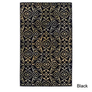 Black And White Damask Rug Classic Rugs Find Great Home Decor