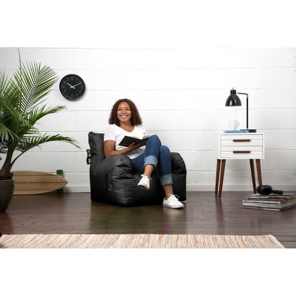 Excellent Shop Big Joe Dorm Bean Bag Chair Free Shipping Today Beatyapartments Chair Design Images Beatyapartmentscom