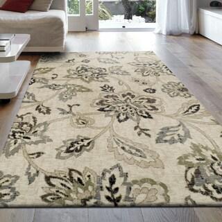 Miranda Haus Designer Jacobean Area Rug (5' X 8') - 5' x 8'