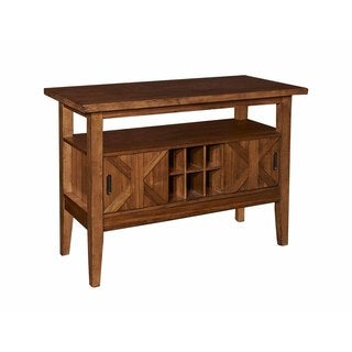 Powell Kraven Brown Wood Buffet Style Server