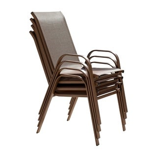 Panama Jack Cafe Stackable set of 4 High Back Sling Armchairs