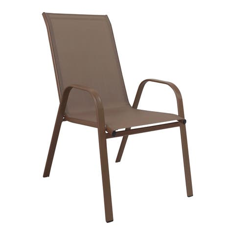 Panama Jack Cafe Stackable High Back Sling Armchair