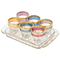Tray Set 7 Piece Shots with Tray Multi Color