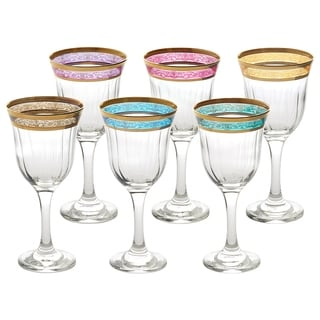 Red Wine Set of 6 Melania Collection Multicolor
