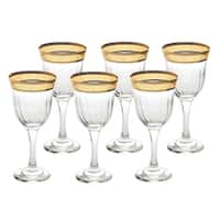 Red Wine Set of 6 Melania Collection Amber