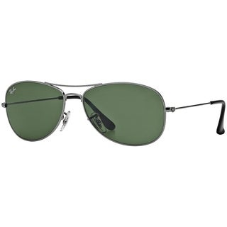 Ray-Ban Men's RB3362 Cockpit Gunmetal Frame Green Classic 56mm Lens Sunglasses