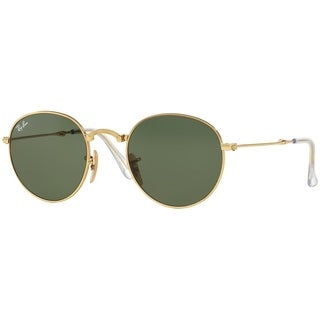 Ray-Ban Unisex RB3532 Round Folding Gold Frame Green Classic 53mm Lens Sunglasses