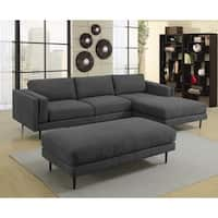 Lyke Home Colby Sectional and Ottoman Set