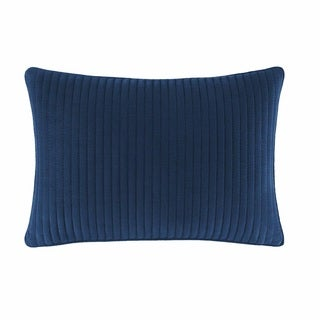 Nautica Cape Coral Blue Quilted Breafast Pillow