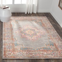 Nourison Passion Grey Area Rug (8' x 10') - 8' x 10'