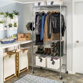 Honey Can Do 3-Shelf Deluxe Garment Rack