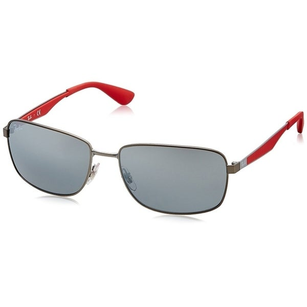 94b3a409a2 Ray-Ban Men  x27 s RB3528 Gunmetal Frame Grey Gradient Mirror 61mm Lens