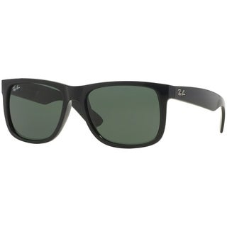 Ray-Ban Men's RB4165 Justin Classic Black Frame Green Classic 55mm Lens Sunglasses