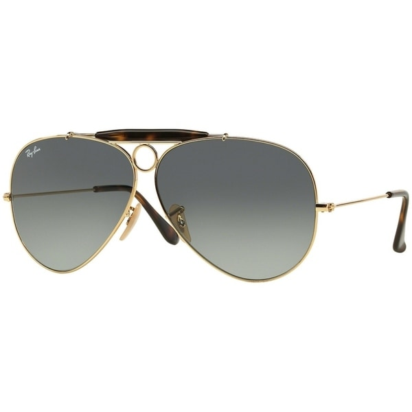 Shop Ray Ban Men's RB3138 Gold Frame Grey Gradient 62mm Lens