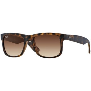 Ray-Ban Men's RB4165 Justin Classic Tortoise Frame Brown Gradient 51mm Lens Sunglasses