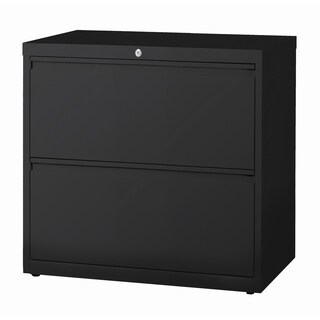 2-Drawer Commercial Lateral File Cabinet, 30-Inch Wide Black