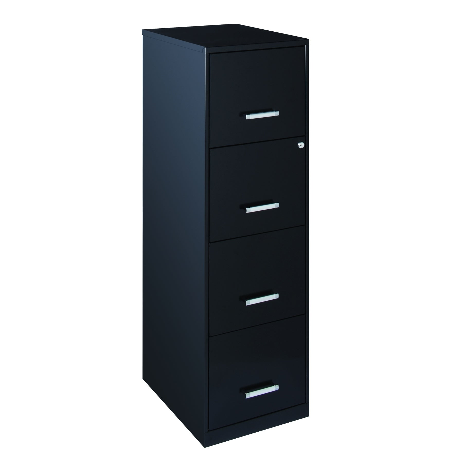 18  4 Drawer Metal File Cabinet - Black  sc 1 st  Overstock.com : wooden file cabinets 4 drawer - Cheerinfomania.Com