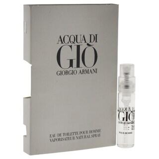 Giorgio Armani Acqua Di Gio Men's 0.05-ounce Eau de Toilette Spray Vial (Mini)