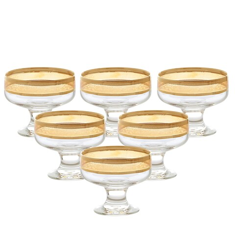 Pedastal Bowls Set of 6 Melania Collection Amber