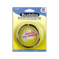 Beadalon S Steel Wire Coil Round 316L 24Ga 12M