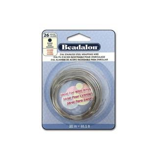 Beadalon S Steel Wire Coil Round 316L 26Ga 20M