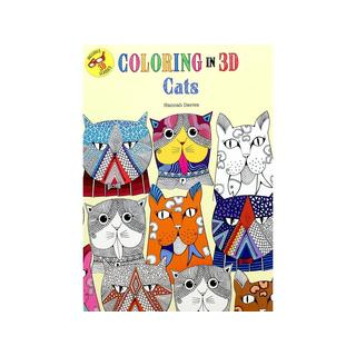 Thunder Bay Press Coloring In 3D Cats Book
