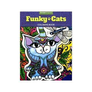 Design Originals Funky Cats Coloring Book