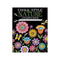 Design Originals Chalk-Style Nature Coloring Book