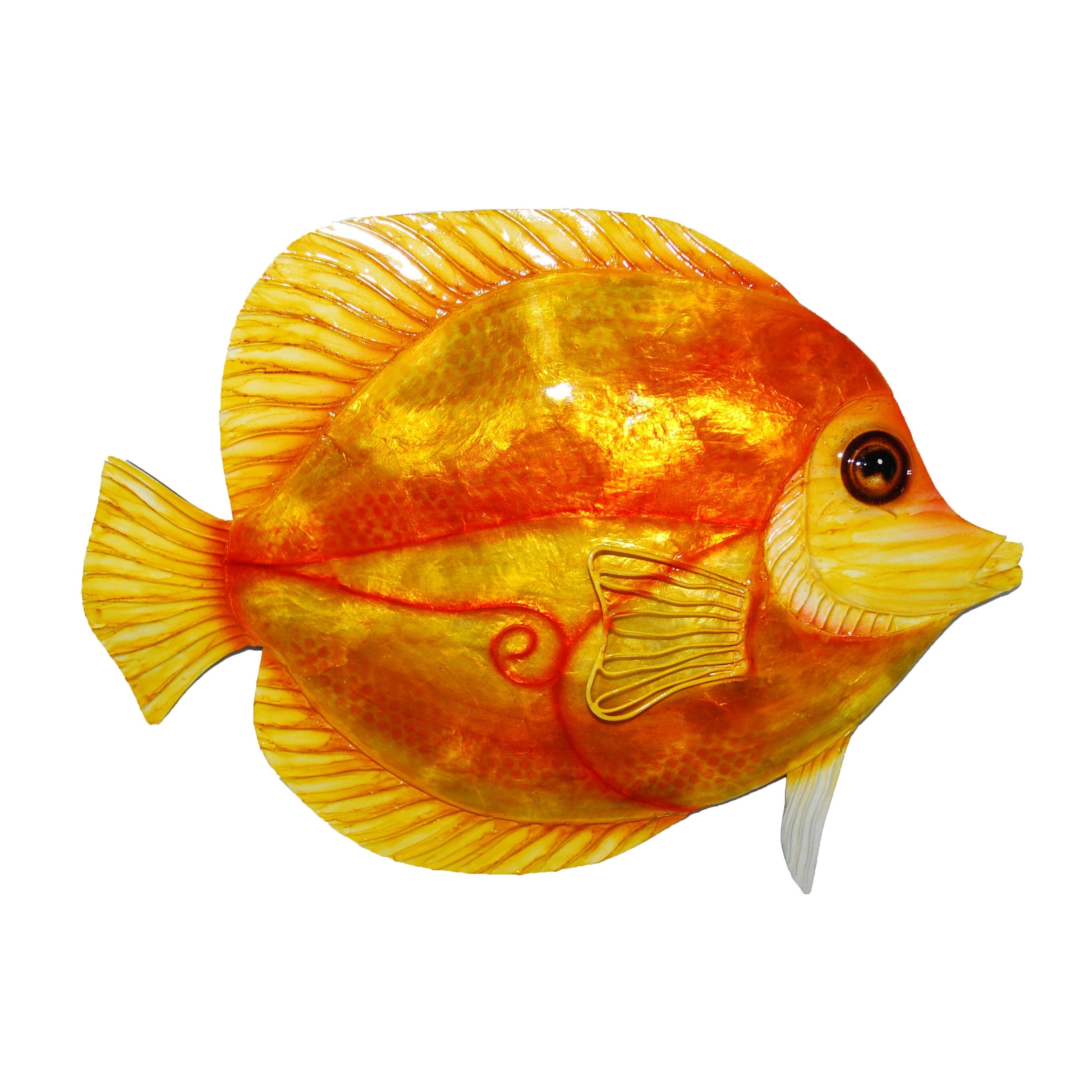 Environmentally Safe at Home Orange Discus Fish Wall Deco...