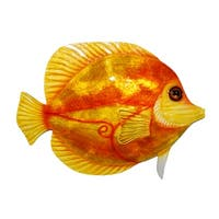 Orange Discus Fish Wall Decor