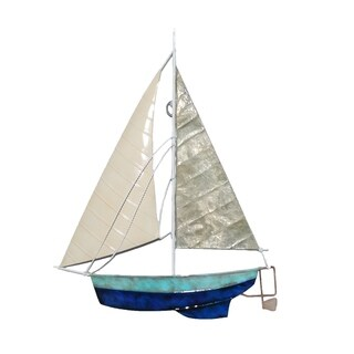 Tan And Gray Sailboat Wall Decor