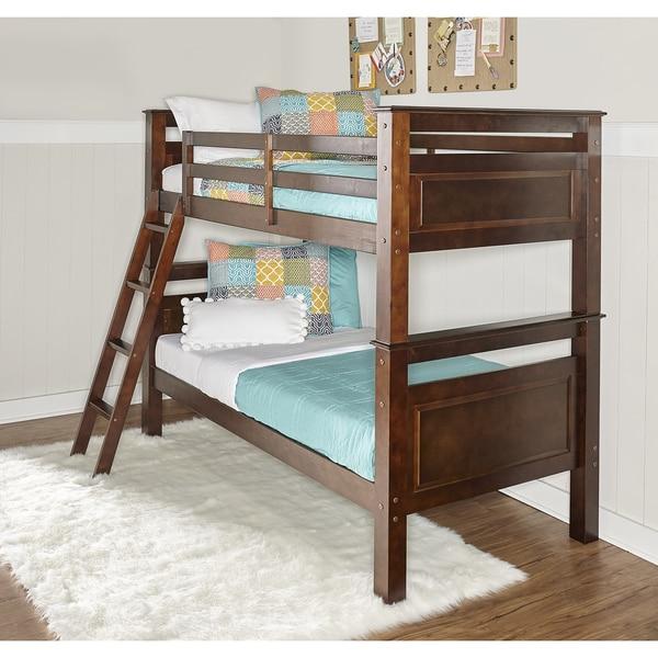 Shop Powell Beckett Espresso Wood Bunk Bed Free Shipping
