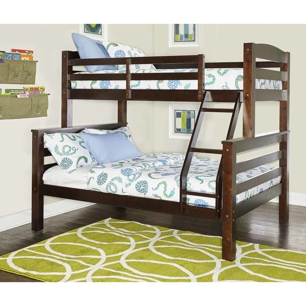 Powell White Twin Bedroom In A Box: Shop Powell Levi Black Finish Wood Twin Full Bunk Bed