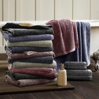 Superior 100% Cotton Jacquard 6-piece Denim Wash Towel Set