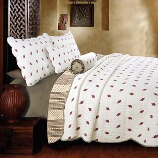 Kismet Paisley Reversible 3-Piece Cotton Quilt Set