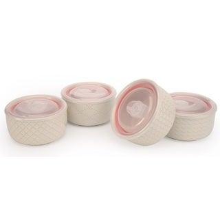 Signature Housewares Sahara 5-inch Storage Bowls with Lids (Set of 4)