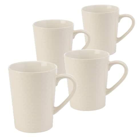 Signature Housewares Sahara Wave 14-ounce Mugs - Set of 4
