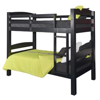 Powell Levi Black Wood Twin-over-twin Bunk Bed