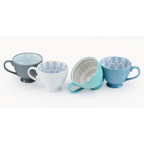 Signature Housewares Design 11 Assorted Footed Mugs