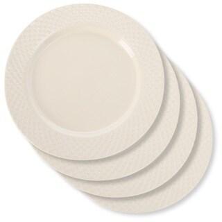 Signature Housewares Sahara Waffle 8-inch Salad Plate - Set of 4