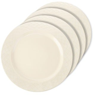 Signature Housewares Sahara Scallop 11-inch Dinner Plate - Set of 4