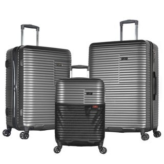 "Olympia ""Taurus"" 3-Piece 21in/25in/29in Hardside Lightweight 4-Wheel Spinner Luggage Set w/Hidden Compartment"