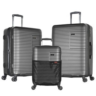 Olympia Taurus 3-Piece Hardside Spinner Luggage Set W/Hidden Compartment